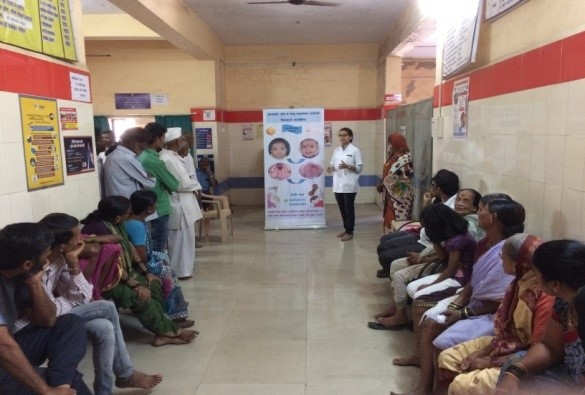 Oral Health Education at Dental Camp